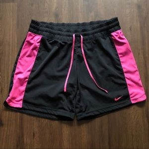 NIKE DRY-FIT athletic running shorts black/pink